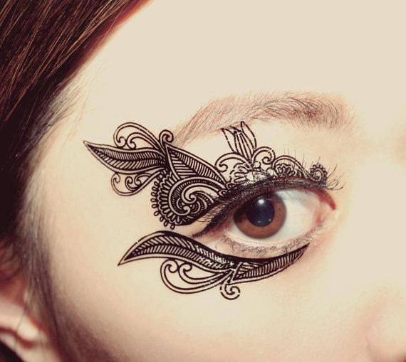 Henna Eye Tattoo: The Belly Blog